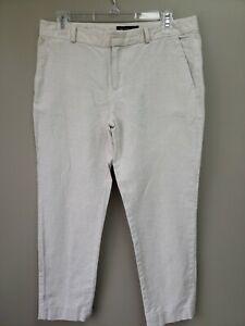 Banana-Republic-Womens-Linen-Pants-Hampton-Size-4-Tan