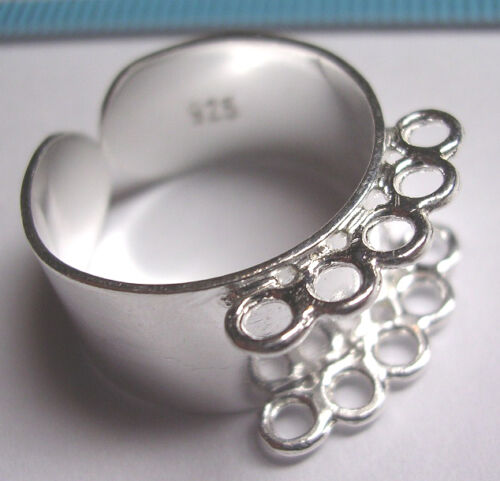1 X brillante anillo de plata esterlina 10 agujeros caso 10mm #190