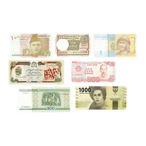 Set-of-7-different-countries-Au-Unc-Special-Purchase-Catalog-Values
