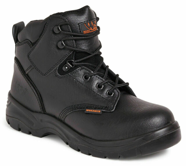 Work Site SS604SM Black Steel Toe Cap Safety Boots Sizes UK 6-12 Sterling