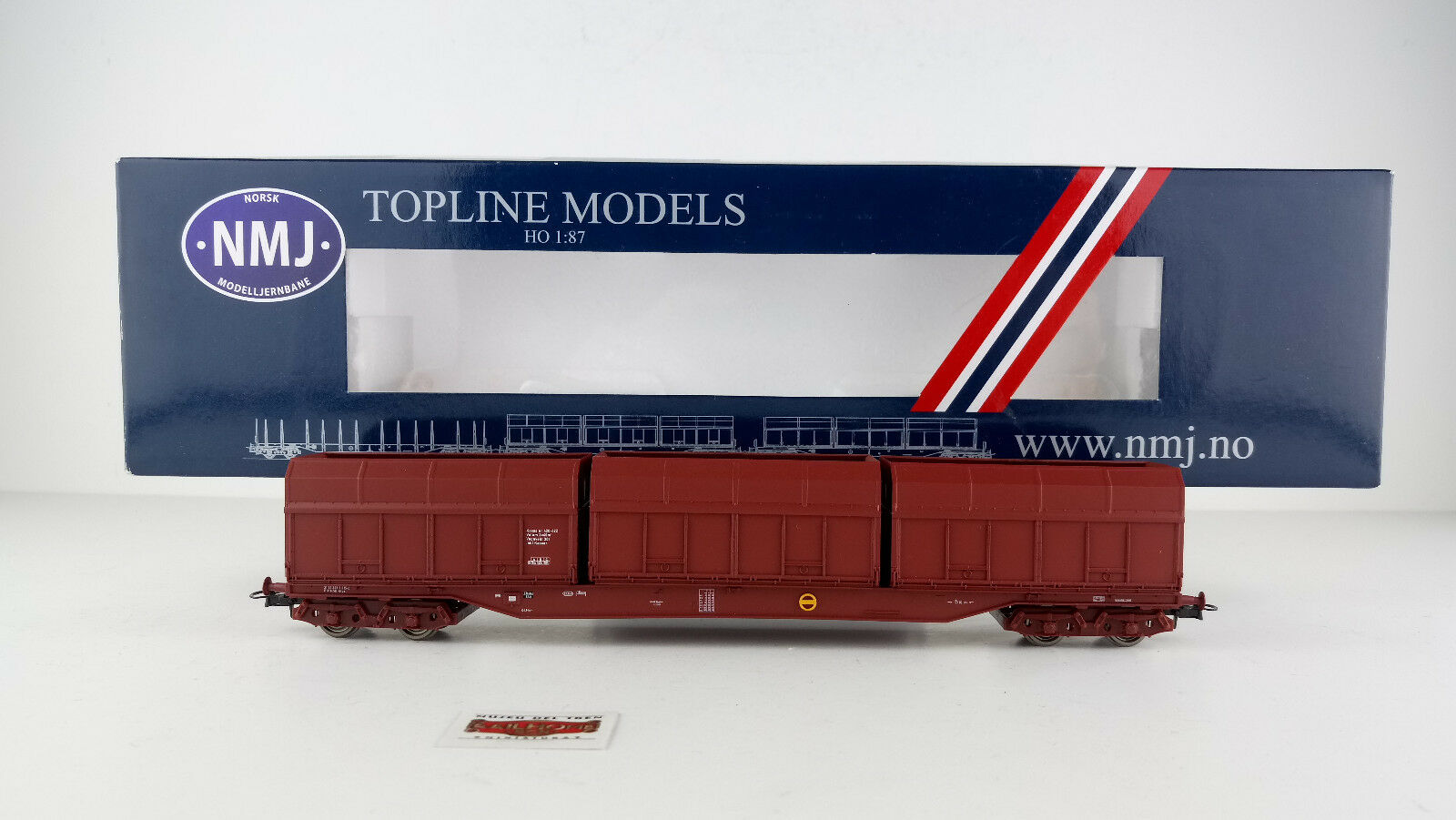 NMJ H0 505.201 - CONTAINER WAGON NSB - NEW - OVP - TOP