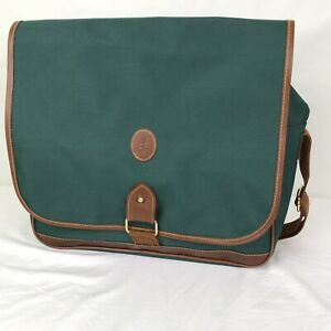 Vintage 90s POLO RALPH LAUREN Nylon Messenger Bag Shoulder Bag Green ... 8dd792b50bd01