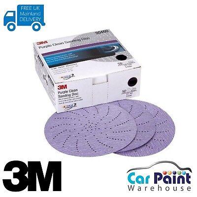 3M 30472 PURPLE CLEAN SANDING DISCS HOOKIT 5IN P500 50 PACK