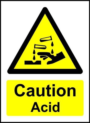 Caution Acid Safety Sign