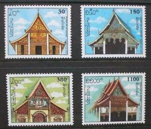 CréAtif Laos 1994 Lao Pagodes. Set Of 4. Neuf Sans Charnière. Sg1392/1395-afficher Le Titre D'origine