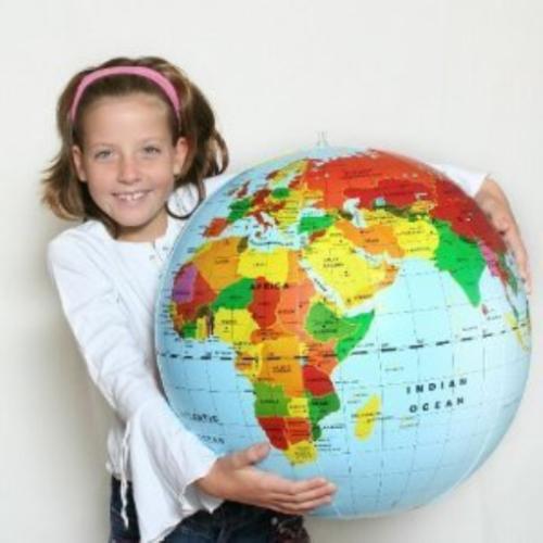 Kids World Map Ball Inflatable World Globe Beach Ball Planet Earth Geography 20i
