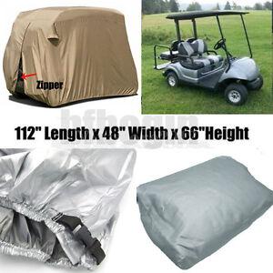 4 Passenger Golf Cart Cover Waterproof + Zipper For EZ Go Club Car Cart Yamaha 732140138236