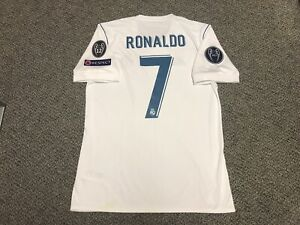 online store a39f4 d8044 Details about 2017 2018 Real Madrid Jersey Shirt Kit Medium M Home Ronaldo  7 Champions League