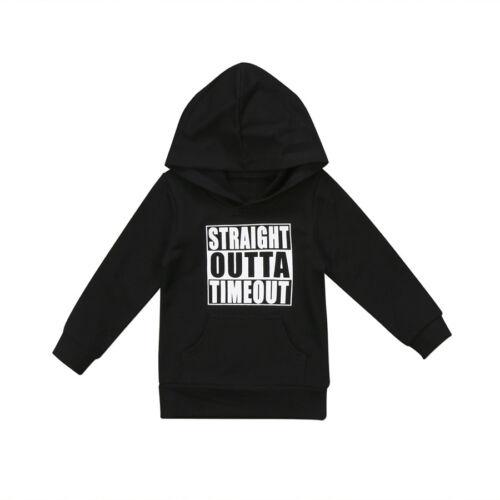 UK Stock Casual Toddler Newborn Baby Boy Girl Pop Hoodie Hooded Tops Sweatshirt