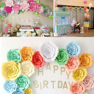 20cm 30cm diy paper flower backdrop decoration kids birthday party image is loading 20cm 30cm diy paper flower backdrop decoration kids mightylinksfo