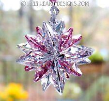 m/w Swarovski Clear + Rare Light Rose SUPER STAR Suncatcher Lilli Heart Designs