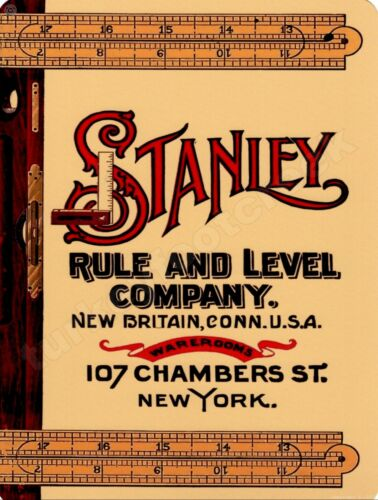 """STANLEY RULE AND LEVEL COMPANY  9/"""" x 12/"""" Sign"""