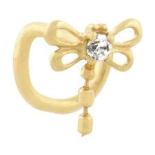 Piercing Nase rund echt Gold 750 Zirkonia Nasenstecker  Gelbgold Qualität ZS7505
