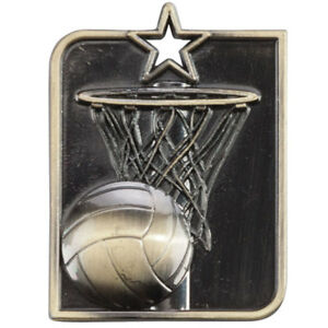 53 mm x 40 mm Centurion Football médaille en 3 Couleurs avec free ruban sans gravure