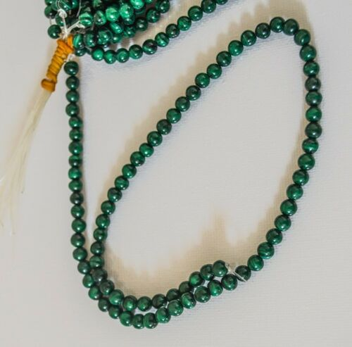 120 beads 2 strands of 6mm semi precious green polished stone