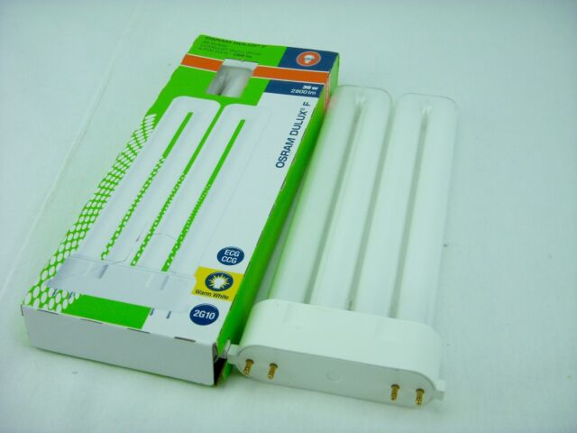 Osram Dulux F 36W//840 Lumilux Cool White 4-Pin 2G10 2800lm Fluorescent Bulb
