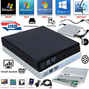 PC-Computadora-Portatil-Externo-USB-a-SATA-CD-DVD-ROM-RW-Drive-Gabinete-Caddy-Funda