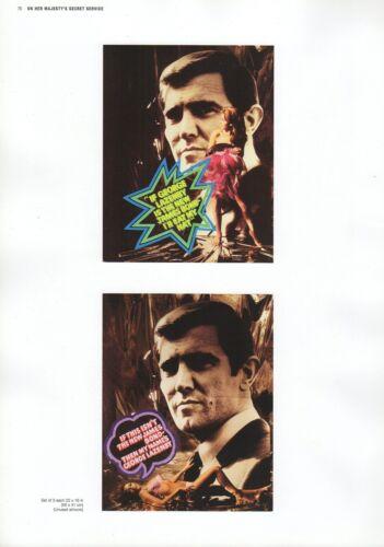 """2002 Vintage JAMES BOND /""""ON HER MAJESTY/'S SECRET SERVICE/"""" MINI POSTERS Art Litho"""