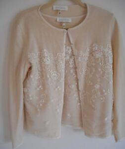 b5b46f9fdb ESCADA Cardigan Pullover Sweater Set Size 8 38 White Ivory Wool ...