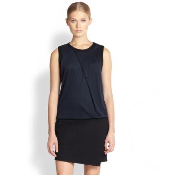 Helmut Lang Navy & schwarz Sleeveless Origami Pocket Dress- 4