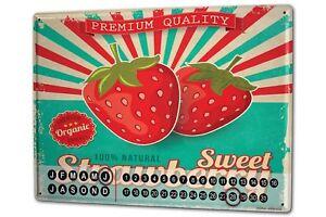 Perpetual-Calendar-Kitchen-sweet-Strawberry-Tin-Metal-Magnetic