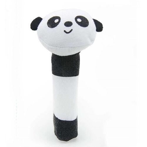 Boy Girls Newborn Baby Soft Sound Animal Plush Handbells Squeeze Rattle Toy Nice