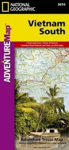 Vietnam, South. Travel Maps International Adventure Map by National Geographic M