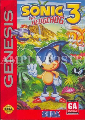 SEGA MEGADRIVE GENESIS Vintage Retro Games Posters A3 A4 A5 Wall Decor Prints