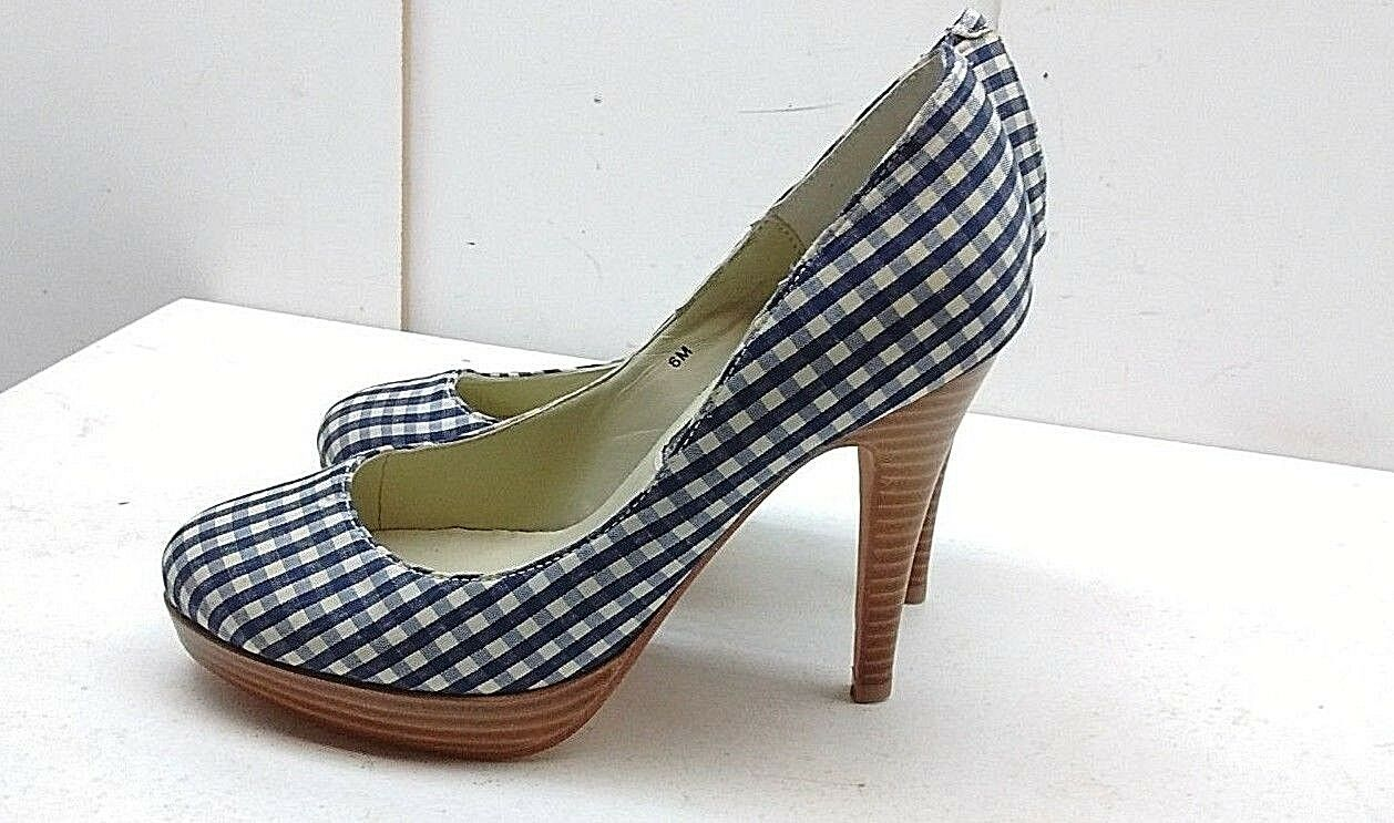 nessun minimo Steven by Steve Steve Steve Madden donna blu bianca Textile Slip On Pump Heel Casual scarpe 6M  negozio online outlet