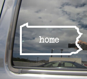 Details About Pennsylvania State Home Outline America Pa Car Vinyl Die Cut Decal Sticker 07038