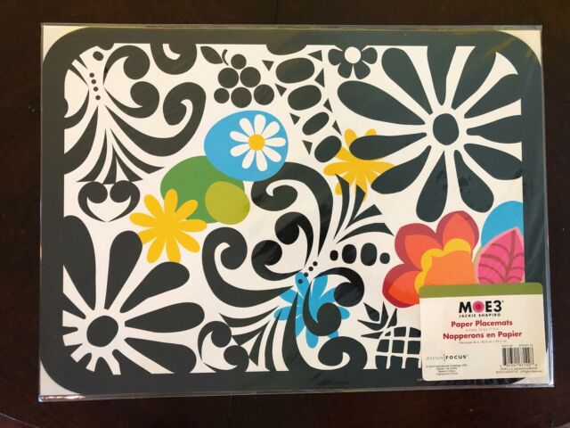 Moe3 Paper Placemats, Jackie Shapiro, 6 count | eBay