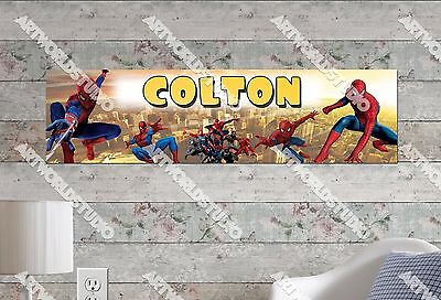 Personalized//Customized Spiderman #2 Name Poster Wall Art Decoration Banner