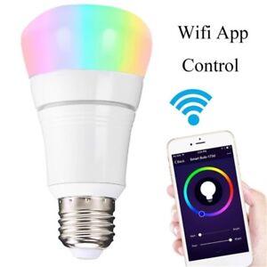 WiFi-multicolore-E27-B22-Smart-LED-ampoule-Amazon-Alexa-telephone-App-Remote