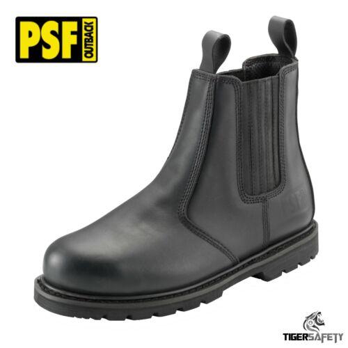 Psf Outback 608SM S1P Heavy Duty Black Steel Toe Sécurité Chelsea Dealer Bottes