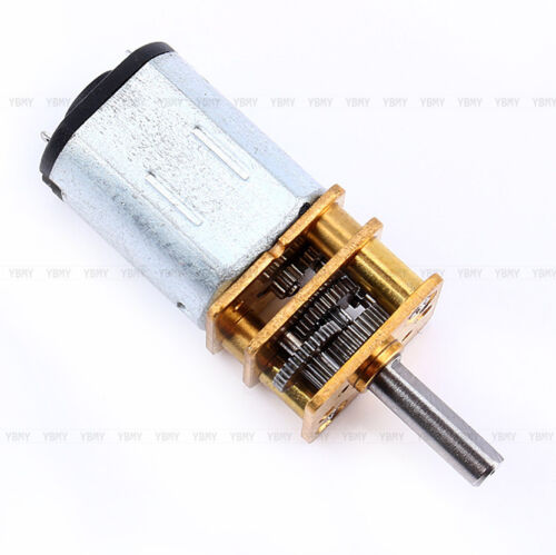 N20 DC 3V//6V//12V 50-2000RPM Speed Reduction Gear DC Motor with Metal Gearbox CE
