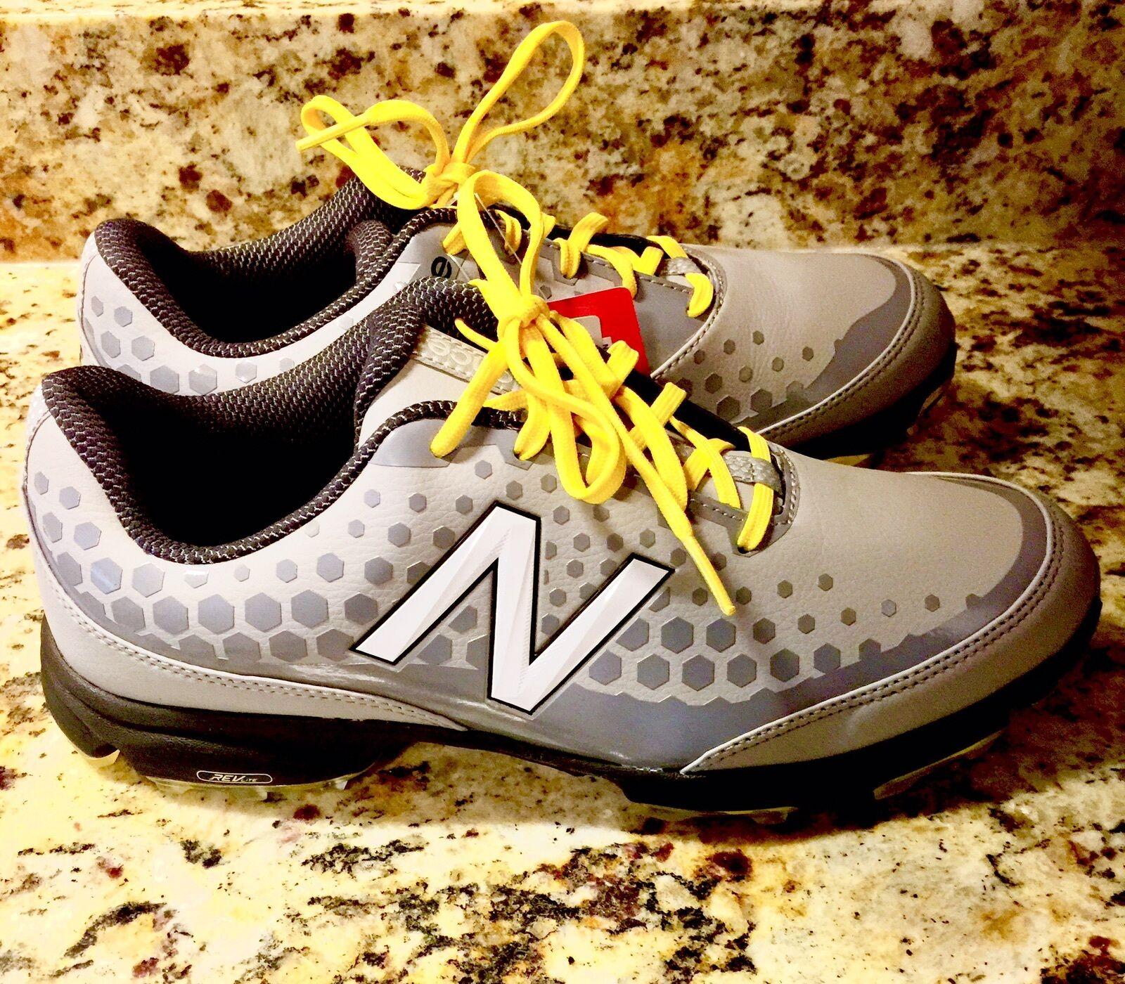 New Balance NBG2002 Gray Men's Leather Golf Shoe Size 9 NWOB
