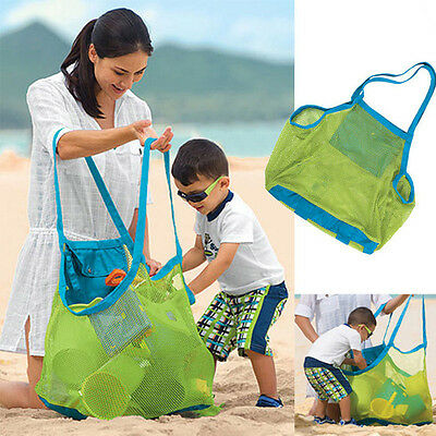 Children Kids Sand Object Collect Toys Mesh Bag Tote Beach Storage Shell Net Bag