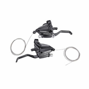 SHIMANO-MTB-Brake-Shifter-Set-Brake-Levers-amp-Shift-Levers-EF500-7-3x7S-Black