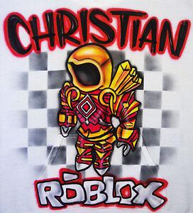 Airbrushed Custom Roblox T Shirt Bodysuit Hoodie Pillowcase Ebay