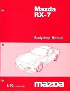 Rx7 Mazda Body Shop Manual Service Repair Rx 7 Book Turbo Fd R1 1992 2002 Ebay