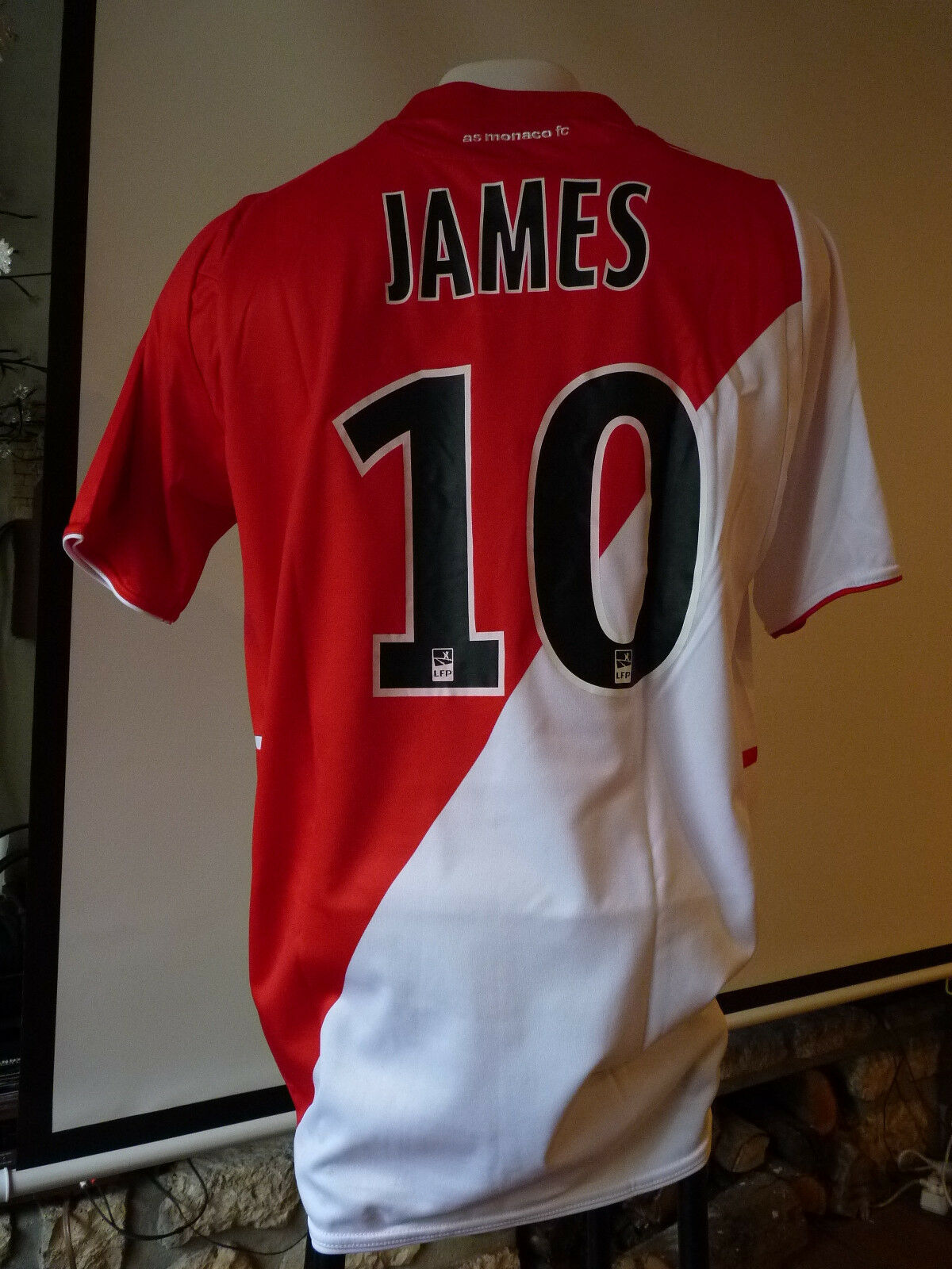 Maillot AS Monaco 201314 James Rodriguez  13 2014 porté  Bayern  Real Madrid