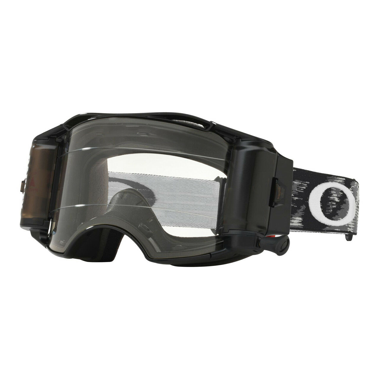 Oakley Airbrake MX Goggle JET Black Speed Clear Lens Inc Roll Offs