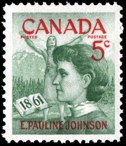 Canada-392-PAULINE-JOHNSON-VF-NH-Brand-New-1961-Pristine-Gum