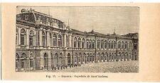 Stampa antica GENOVA Ospedale di Sant'Andrea 1910 Old print
