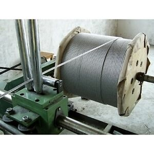 100 MTRS X 4MM 1/19  STAINLESS STEEL 316  WIRE ROPE