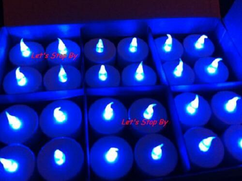 24 LED Blue Wedding Decoration Floralyte Light Floral Tea Candle