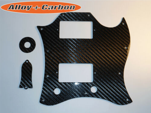Gibson SG Standard Kit Pickguard Truss Rod Cover REAL Carbon Fiber 4 items