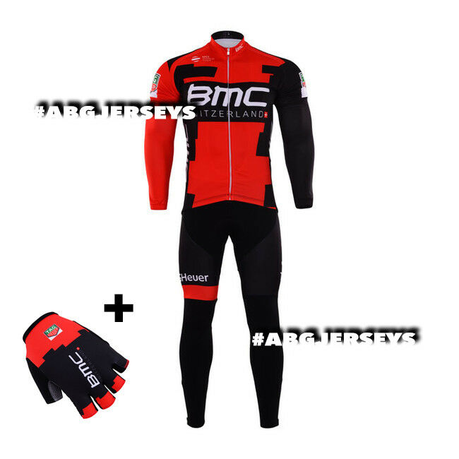 2017 BMC JERSEY BIB HOBBY WINTER SET CYCLING TOUR DE FRANCE VAN AVERMAET PORTE