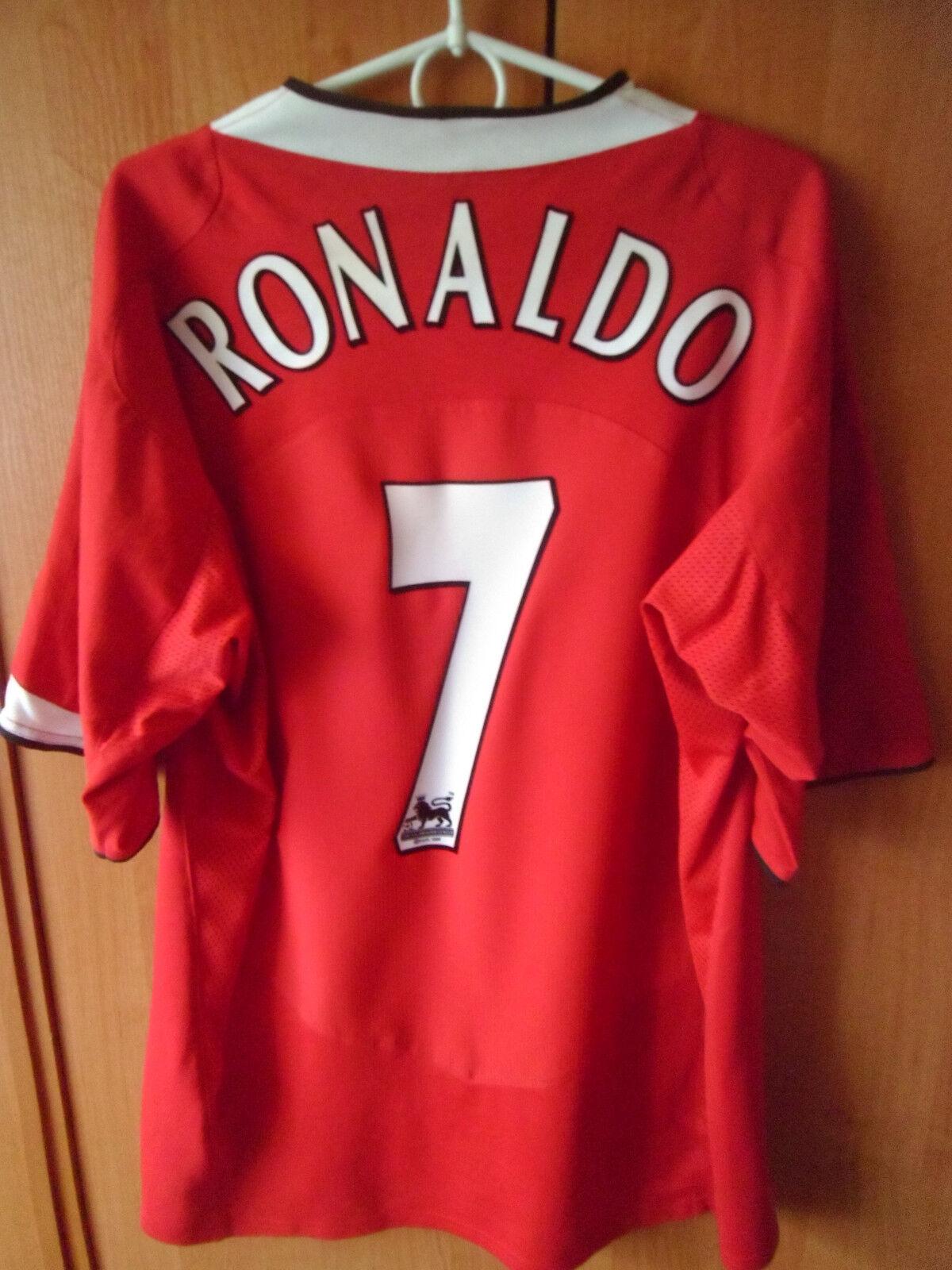 EXCELLENT     RONALDO      Manchester United 2004 06 Home Shirt Jersey Trikot XL 65c766