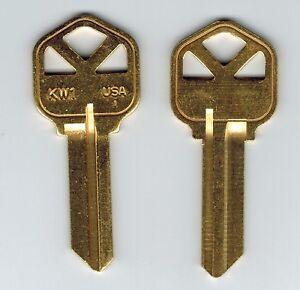 Kwikset KW1 Brass Key Blank X2